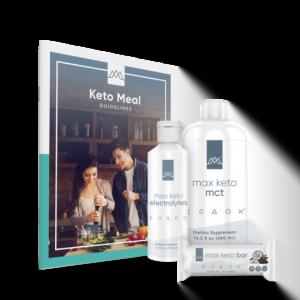 keto bundle by maxliving with keto recipe book