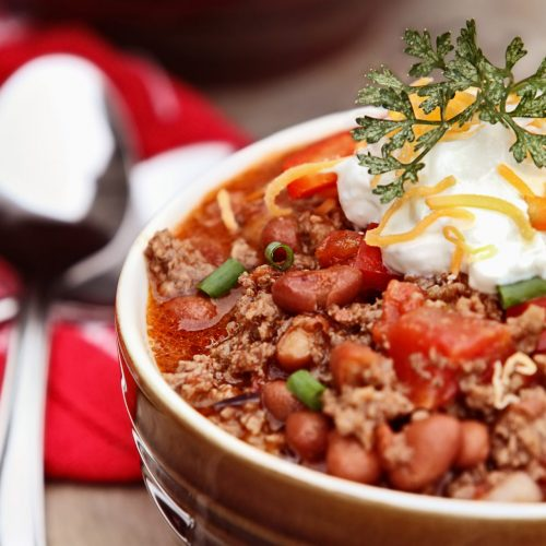 beef and bean hearty chili