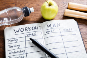 Finding a workout plan that works best for you.
