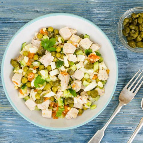 chicken caper salad