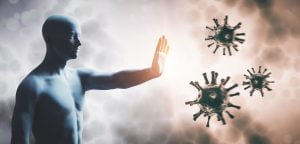 strong immune system fighting germs and virus