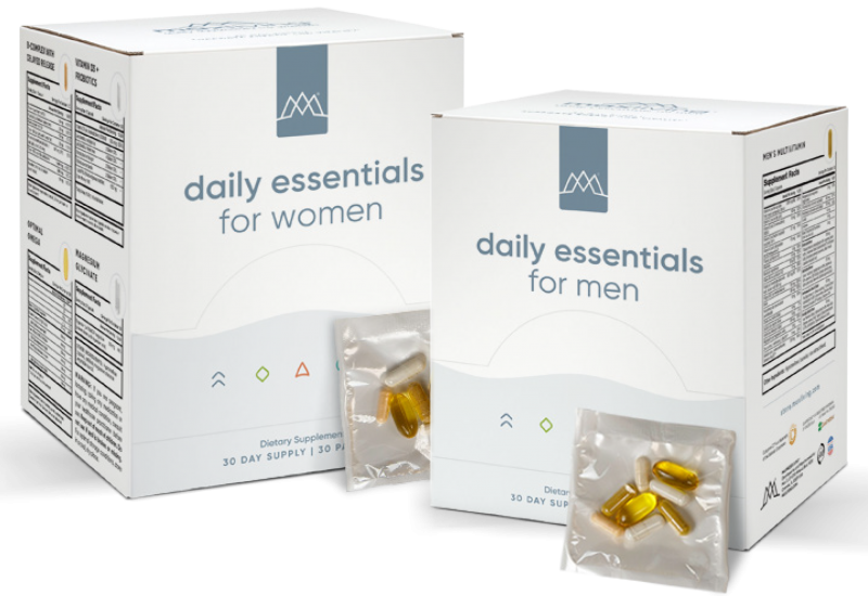 MaxLiving Daily Essentials for Men and Women provides all your daily nutrients in one easy to take packet.