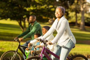 Spending time with family and friends can boost social stimulation and brain health.