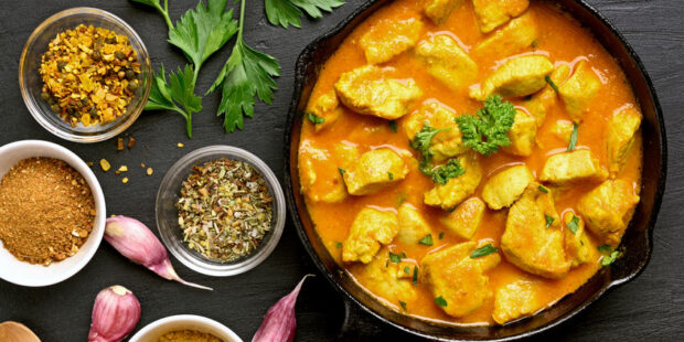 Chicken curry is a delicious and flavorful meal.