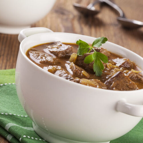 This healthy version of beef stew is just as hearty and delicious as the traditional version.