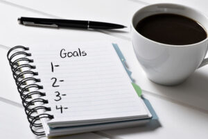 A running list of notes and goals that you may want to achieve in the future is less overwhelming than a long list of to dos.