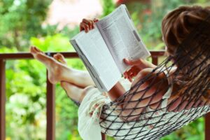 Activities like reading promotes positive brain health and helps to reduce stress.