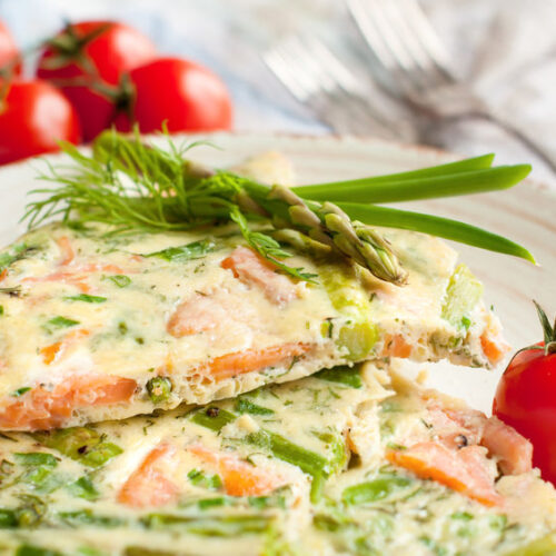 Try this delicious salmon frittata recipe