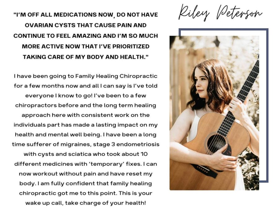 Patient testimonial from Family Healing Chiropractic in Charlotte, NC