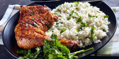 Try this delicious roast chicken and cauliflower rice recipe