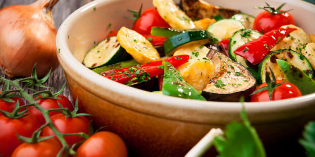 Try this roasted vegetable recipe with your favorite veggies